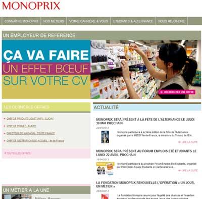 Site recrutement Monoprix