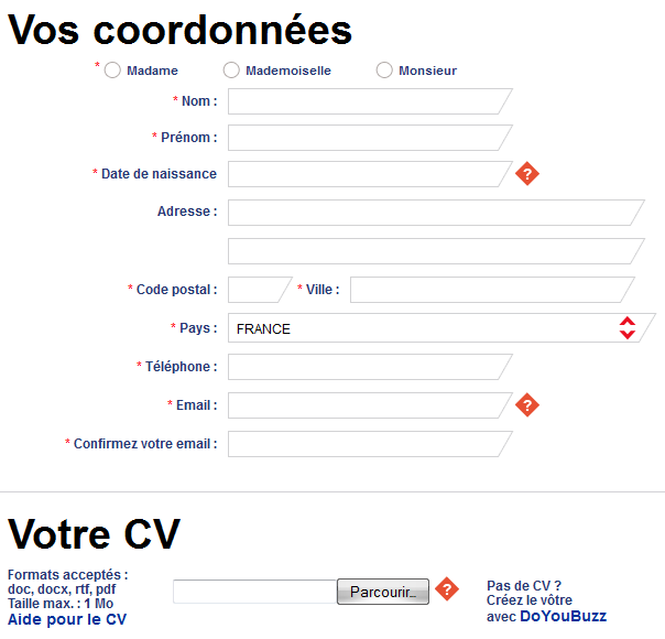 Inscription en ligne Adecco