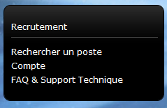 Menu recrutement Ubisoft
