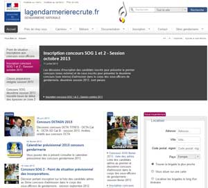 Site de recrutement de la Gendarmerie